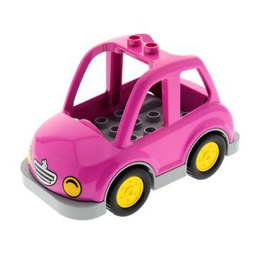 1 x Lego Duplo Auto dunkel pink neu-hell grau Wagen Set 10546 45006 6056593 6056513 15314c01 15452pb01