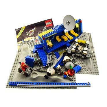 1 x Lego System Teile Set für Nr. 6970 Classic Space Kommandozentrum Beta 1 3 x Figuren blau grau Bauanleitung BA incomplete unvollständig