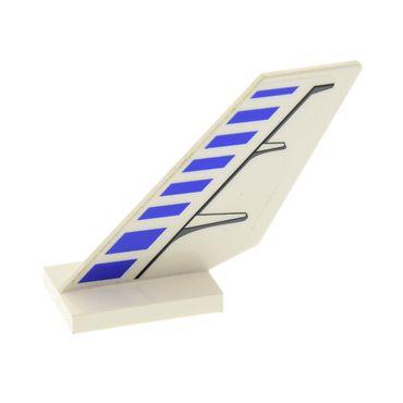 1 x Lego System Flügel weiß links Sticker Blaue Streifen Muster schwarz Set 7700 6239pb020L