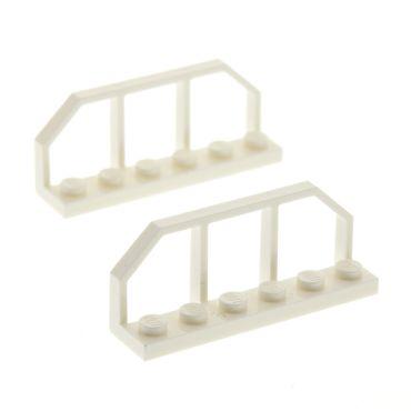 2 x Lego System Zaun weiss 1x6 Gatter Zäune Geländer Ende Absperrung Set Star Wars 4612145 6583