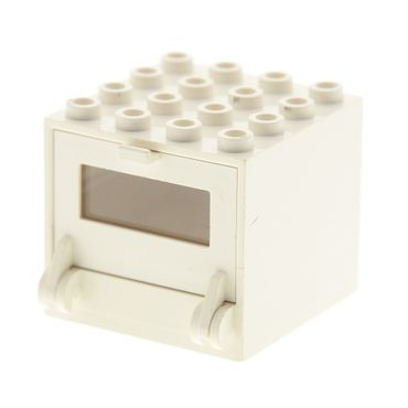 1 x Lego brick cream white Homemaker Stove / Oven 4 x 4 x 3 and Homemaker Stove / Oven Door 261 269 263 843 841