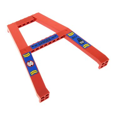 1 x Lego brick Red Support Crane Stand Double with blue Danger and MAX 100 10 m  Pattern (Sticker) – Set 4557 4506473 2635*