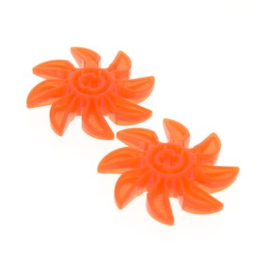 2 x Lego System Rotor transparent neon orange 8 Blätter 5 Diameter/Durchmesser Propeller Technic für Set 8877 4793 70358 4159682 41530