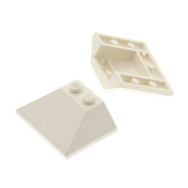 2 x Lego System Dachstein weiss 45° 3x4 Dachziegel Flugzeug Dach schräg Stein 6544 70616 7237 10198  486101 4861