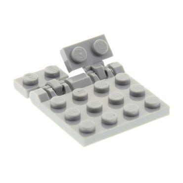 1 x Lego System Bau Scharnier Platte neu-hell grau 3x4 Klappe mit Raster Gegenstück 1x2 neu-hell grau Star Wars 7258 4211814 44567a 4211841 44570