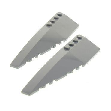 2 x Lego System Flügel Keil Platten neu-hell grau 10x3 links für Set Star Wars 10227 76042 7680 4505087 50955