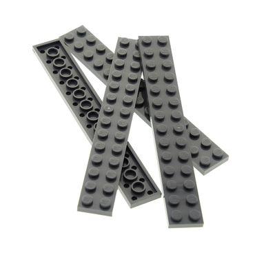 4 x Lego System Leiste Basic Bau Platte Stein 2x14 neu-dunkel grau Steine Set Star Wars 75147 60103 60034 10937 60095 70725 76042 75155 6000970 91988