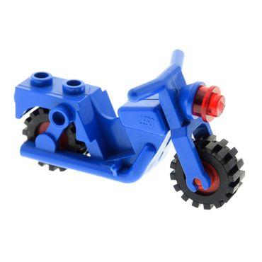 1 x Lego System Motorrad blau Bike mit Scheinwerfer rot 6373 6371 x81c01
