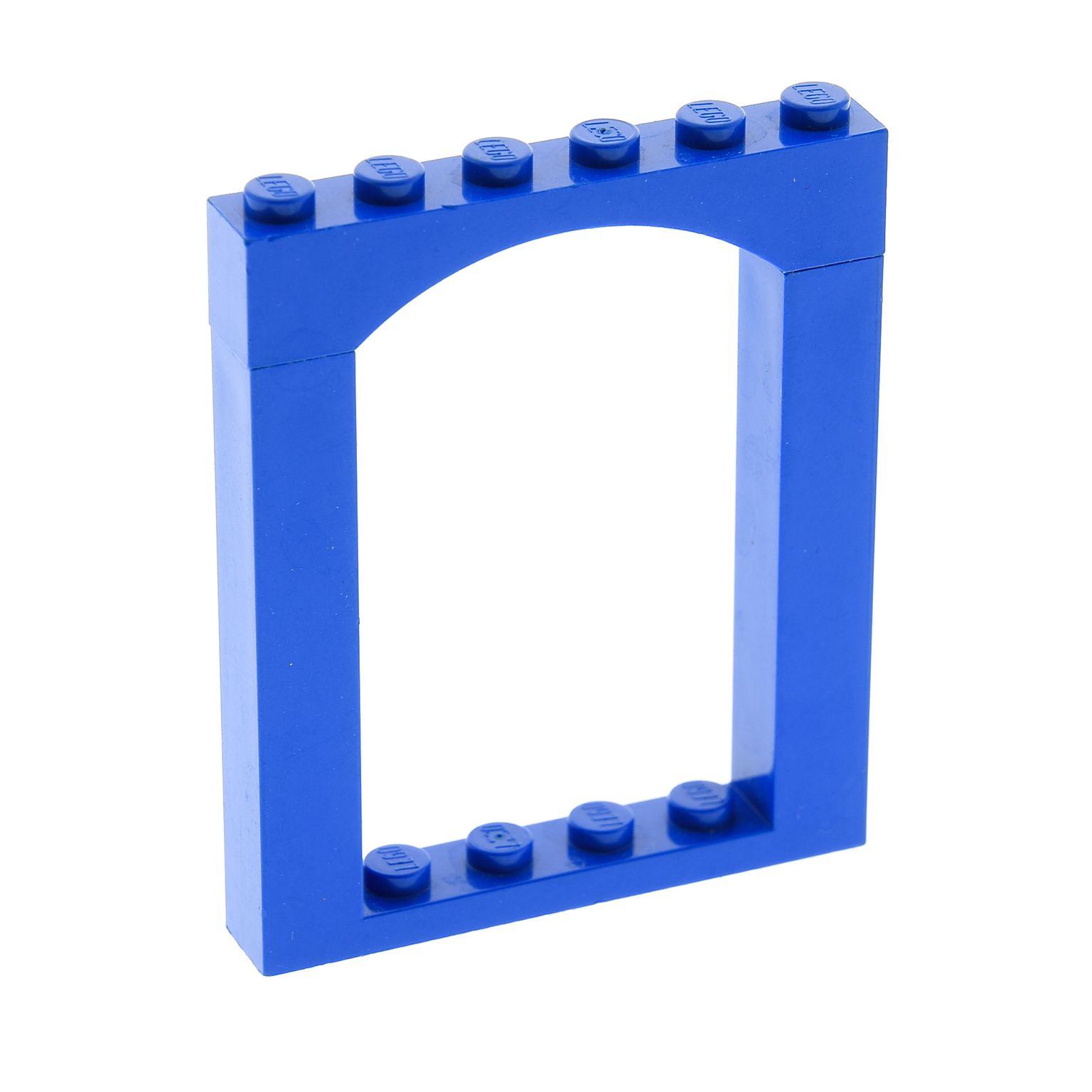 1 x Lego System Tor Bogenstein blau 1x6x6 Tür Bogen Fenster Rahmen Set 6464  30257