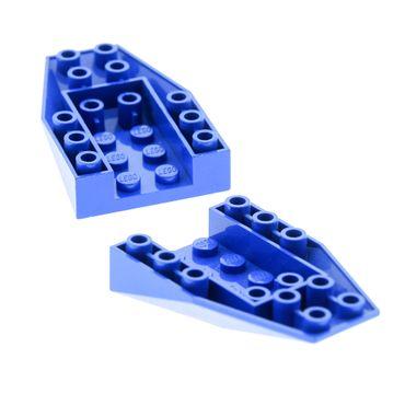 2 x Lego System Keil Stein blau 6x4 Schräg Stein Rumpf Cockpit Unterteil 4856