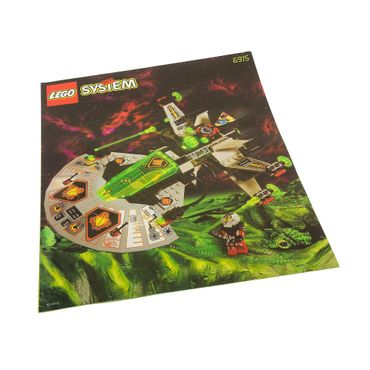 1 x Lego System Bauanleitung A4 Space Ufo Warp Wing Fighter Raumschiff 6915