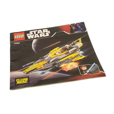 1 x Lego brick Instruction Star Wars Clone Wars Anakin's Jedi Starfighter Box 7669