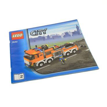 1 x Lego System Bauanleitung Heft 2 Town City Garage Truck 7642