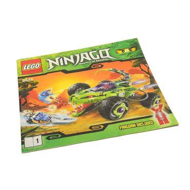 1 x Lego System Bauanleitung Heft 1 Ninjago Rise of the Snakes Fangpyre Truck Ambush Schlangen Quad Fahrzeug 9445