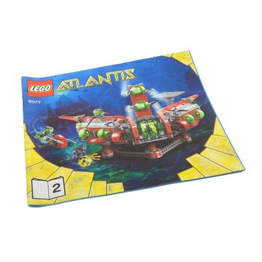 1 x Lego brick Instructions Atlantis Exploration HQ Booklet 2 8077