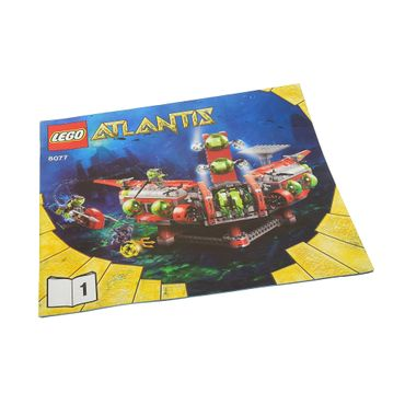 1 x Lego brick Instructions Atlantis Exploration HQ Booklet 1 8077