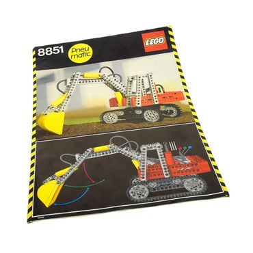 1 x Lego Technic Bauanleitung A4 Model Construction Bagger Kettenbagger 8851