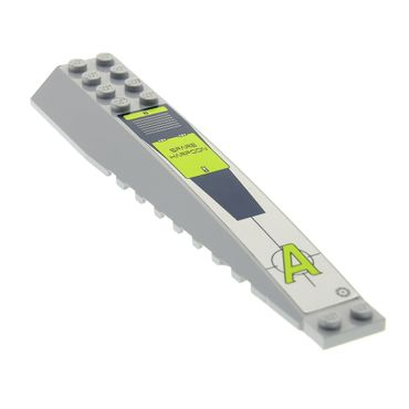 1 x Lego brick light bluish gray Wedge 16 x 4 Triple Curved with Agents Logo and 'SPARE HARPOON' Pattern (Sticker) - Set Agents 8633 45301pb028L