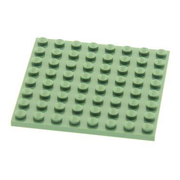 1 x Lego System Bau Platte 8x8 sand grün für Set Harry Potter 4723 4158307 42534 41539