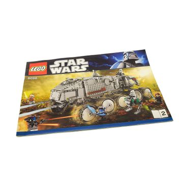 1 x Lego System Bauanleitung A4 Heft 2 Star Wars Clone Wars Clone Turbo Panzer Fahrzeug 8098