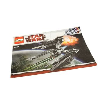 1 x Lego System Bauanleitung A4 Star Wars Expanded Universe TIE Defender Raumjäger 8087