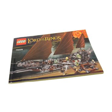 1 x Lego System Bauanleitung A4 Buch The Hobbit and the Lord of the Rings Hinterhalt auf dem Piratenschiff 79008