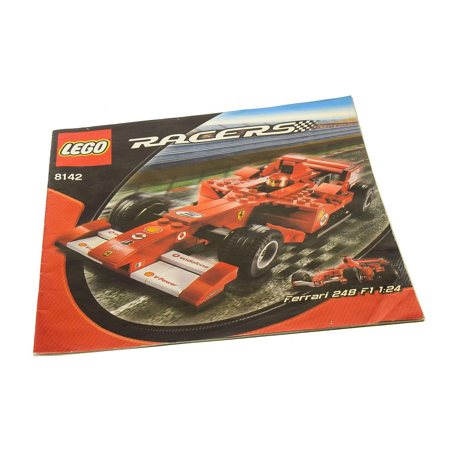 LEGO/DUPLO Spezialist | 1 x Lego brick System Instructions Racers Ferrari  248 F1 1:24 Vodafone version Booklet 8142