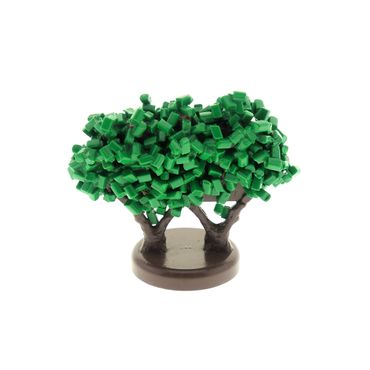 1 x Lego brick Green Plant, Tree Granulated Bush with 2 Trunks GTBush
