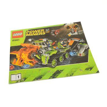 1 x Lego System Bauanleitung Heft 1 Power Miners Crystal Sweeper Kristallsammler 8961