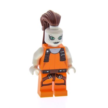 1 x Lego System Figur Star Wars Clone Wars Aurra Sing Torso orange 7930 87572 973pb0856c01 sw306