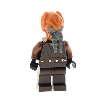 1 x Lego System Figur Star Wars Clone Wars Plo Koon Torso dunkel braun Jedi 8093 7676 61200pb01 973pb0504c01 sw198