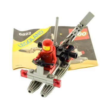 1 x Lego System Teile Set für Nr. 6822 Classic Space Space Digger Raumschiff 1 x Figur Rot grau Bauanleitung incomplete unvollständig