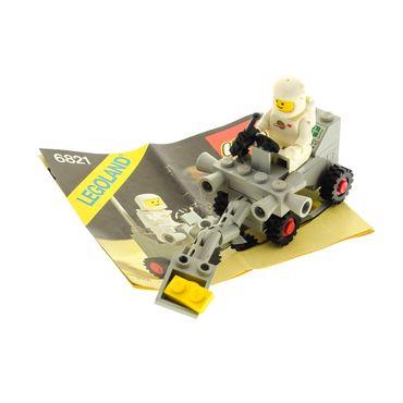 1 x Lego System Teile Set für Nr. 6821 Classic Space Shovel Buggy Raumschiff 1 x Figur Weiss grau Bauanleitung incomplete unvollständig