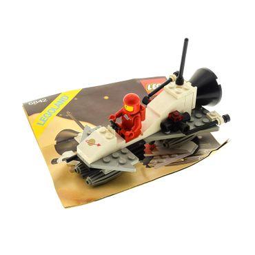 1 x Lego System Teile Set für Nr. 6842 Classic Space Shuttle Craft 1 x Figur Rot Weiss Bauanleitung incomplete unvollständig