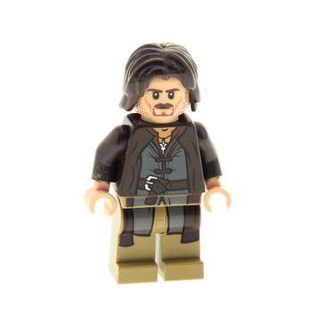 1 x Lego System Figur Mann Aragorn dunkel braun Der Hobbit Der Herr der Ringe Lord of the Rings 9472 79008 9474 973pb1139c01 lor017