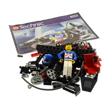1 x Lego Technic Set Modell Nr. 8223 Model Harbor Technic Hydrofoil 7 Hovercraft Boot tech018 Figur rot mit Bauanleitung incomplete unvollständig