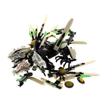 1 x Lego System Teile Set für Modell Ninjago Neustart 9450 Rise of the Snakes Epischer Drachenkampf weiss incomplete unvollständig