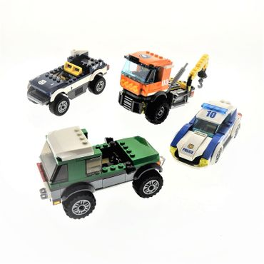 1 x Lego System Modell für Set Town City 60035 Arctic Outpost 60149 4×4 with Catamaran 60007 High Speed Chase 60141 Police Station Auto LKW Polizei unvollständig