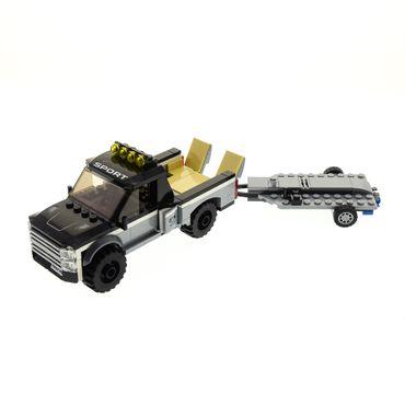 1 x Lego System Modell für Set 60148 Town City Off-Road ATV Race Team Jepp Anhänger schwarz unvollständig