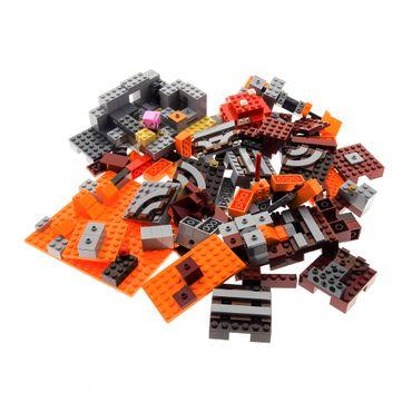 1 x Lego System Set Modell für 21126 Minecraft The Wither Lava 21115 First Night Erste Nacht orange grau incomplete unvollständig