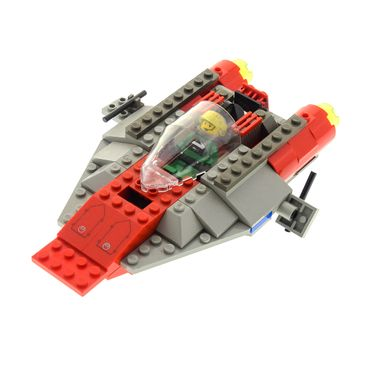 1 x Lego System Set Modell Star Wars Episode 4/5/6 7134 A-wing Fighter Raumschiff grau rot incomplete unvollständig