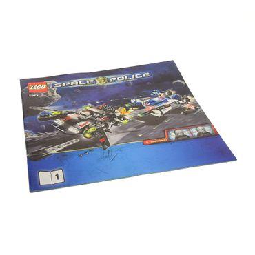 1 x Lego System Bauanleitung Heft 1 Space Police III Hyperspeed Pursuit Polizei Raumschiff 5973
