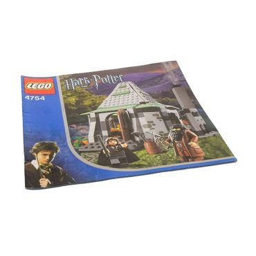 1 x Lego System Bauanleitung Harry Potter Hagrid's Hütte (2nd edition) Haus 4754