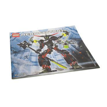 1 x Lego Bionicle Bauanleitung Hero Factory Black Phantom 6203