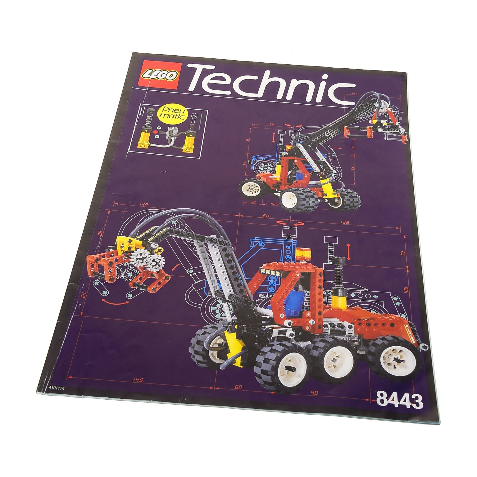 1 x lego technic bauanleitung a4 model construction truck. Black Bedroom Furniture Sets. Home Design Ideas