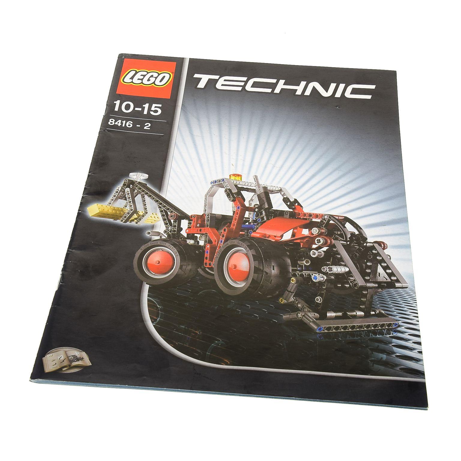 1 X Lego Brick Technic Instructions Model Construction Forklift
