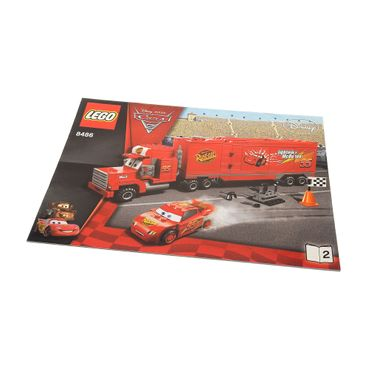 1 x Lego brick Instructions Cars Mack's Team Truck Booklet 2 8486