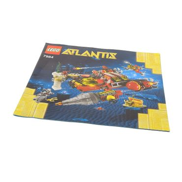 1 x Lego brick Instructions Atlantis Deep Sea Raider 7984