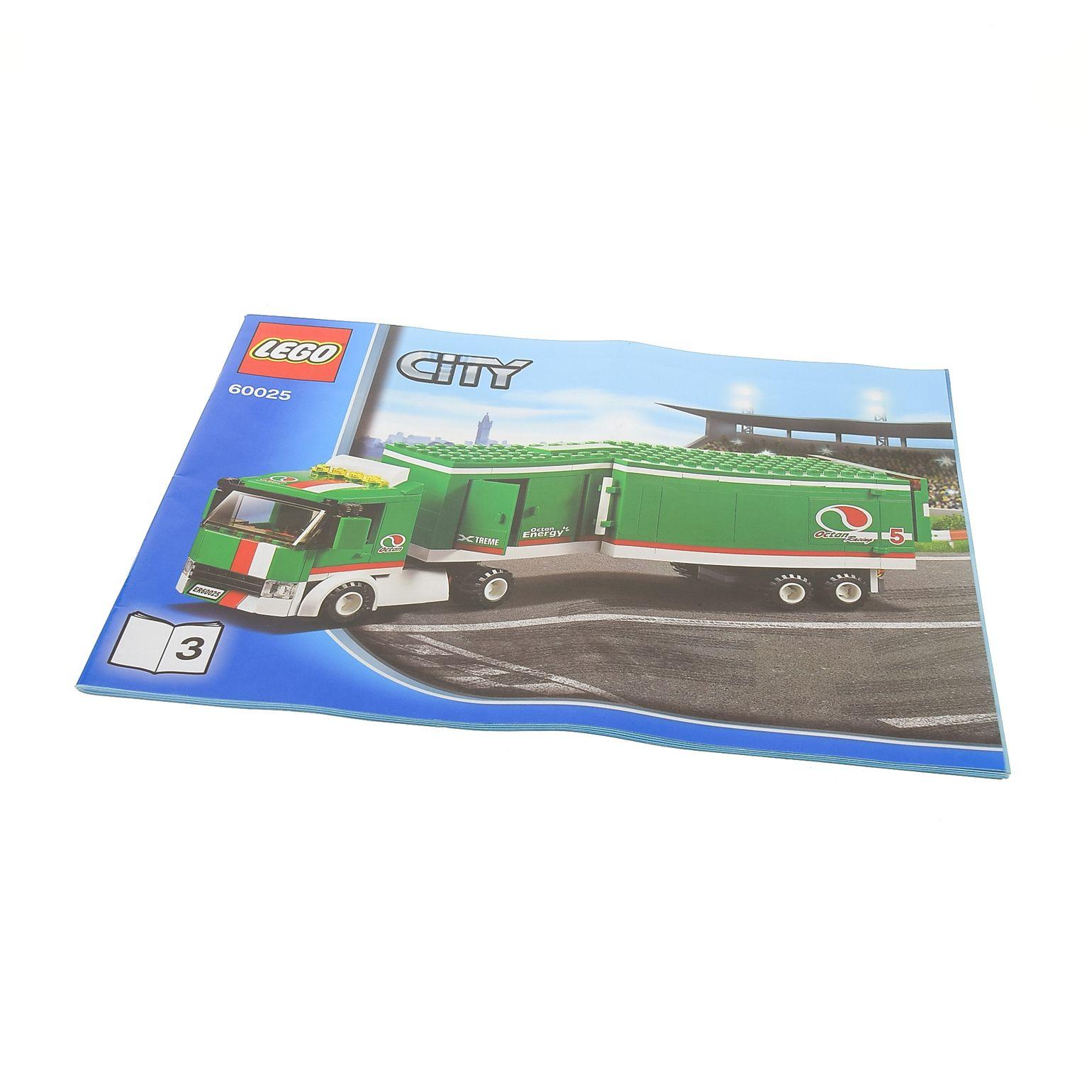 1 X Lego Brick Instructions Town City Race Grand Prix Truck Booklet