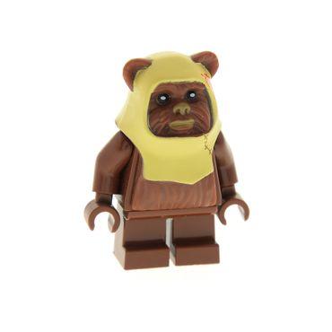 1 x Lego System Figur Star Wars Ewok Paploo Torso reddish rot braun Episode 4/5/6 Set 8038  852845 973c32 64805pb02 sw238